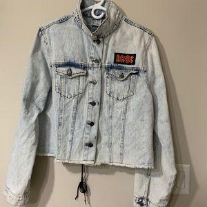 AC/DC Crop Jeans Jacket